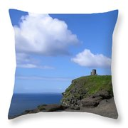 Castle On The Cliffs Of Moher Throw Pillow