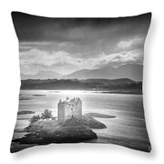 Castle Stalker Throw Pillow by Simon Marsden