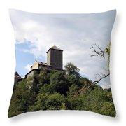 Castle Tirol Throw Pillow