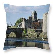 Castles, St Johns Castle, Co Limerick Throw Pillow