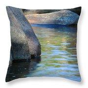 Castor River Reflections Throw Pillow