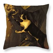 Cat And Dead Game  Throw Pillow