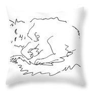 Cat-drawings-black-white-1 Throw Pillow