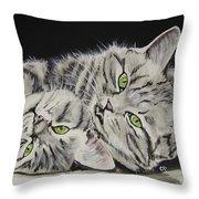Cat Friends Throw Pillow