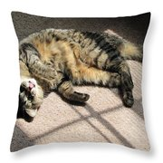 Cat Got Your Tongue Throw Pillow