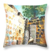 Cat In Nicosia Throw Pillow