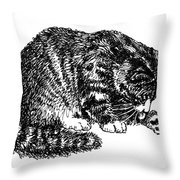Cat-tabby-posters-1 Throw Pillow
