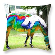 Catch A Painted Pony Throw Pillow