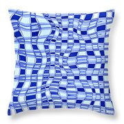 Catch A Wave - Blue Abstract Throw Pillow