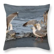 Catch Me If You Can  Throw Pillow by Debra  Miller