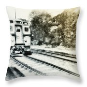 Catch That Train Throw Pillow