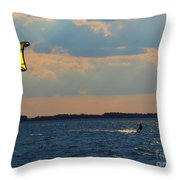 Catch The Wind Throw Pillow by Rrrose Pix