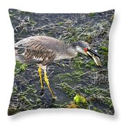 Catching Crab Throw Pillow