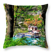 Catching Glimpses Of The Maid Throw Pillow