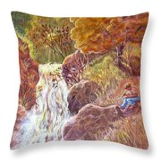 Catching The Last Light Throw Pillow