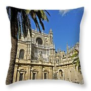 Catedral De Santa Maria De La Sede - Sevilla Throw Pillow