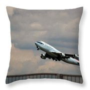 Cathay Pacific B-747-400 Throw Pillow