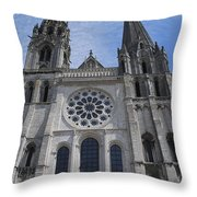 Cathedral At Chartres Throw Pillow