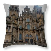 Cathedral At Santiago De Compostela Throw Pillow