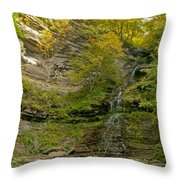 Cathedral Falls West Virginia Throw Pillow