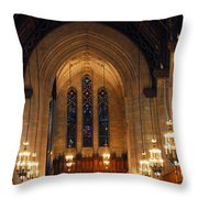 Cathedral In Chicago Throw Pillow