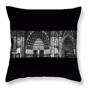Cathedral In The Snow Panorama Throw Pillow
