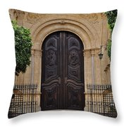 Cathedral Of Malaga Throw Pillow