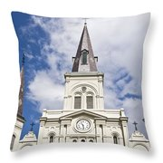 Cathedral Of Saint Louis Throw Pillow
