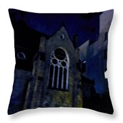 Cathedral On James St Throw Pillow