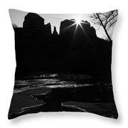 Cathedral Rock Sunrise Sedona Arizona Throw Pillow
