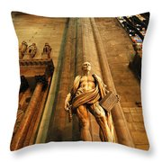 Cathedral Statue Milan Italy Throw Pillow