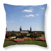 Cathedrale And Cloister Garden Throw Pillow