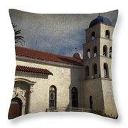 Catholic Church Old Town San Diego Throw Pillow