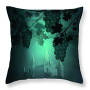 Catle And Grapes Throw Pillow