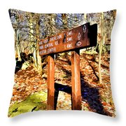 Catoctin Trail Sign Throw Pillow