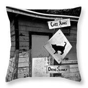 Cats Xing Throw Pillow
