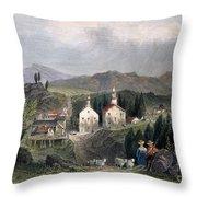 Catskill Village, 1839 Throw Pillow