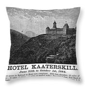 Catskills Hotel, 1884 Throw Pillow
