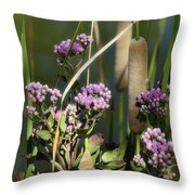 Cattails  Throw Pillow
