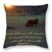 Cattle On A Thousand Hills Throw Pillow