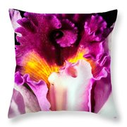 Cattleya II Throw Pillow by Christopher Holmes