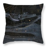 Caution Icy Curves Ahead Throw Pillow