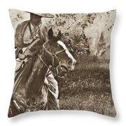 Cavalry Rides Again Throw Pillow