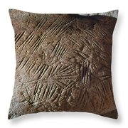 Cave Art: Incised Rock Throw Pillow