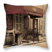 Cave Du Paradoxe Wine Shop In Beaune France Throw Pillow