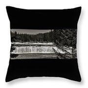 Cave Falls Throw Pillow