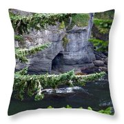 Cave Of The Bay Throw Pillow