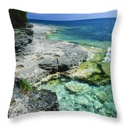 Cave Point Vista Throw Pillow