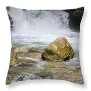 Cave Water Fall Throw Pillow