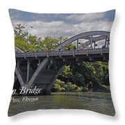 Caveman Bridge With Text Throw Pillow